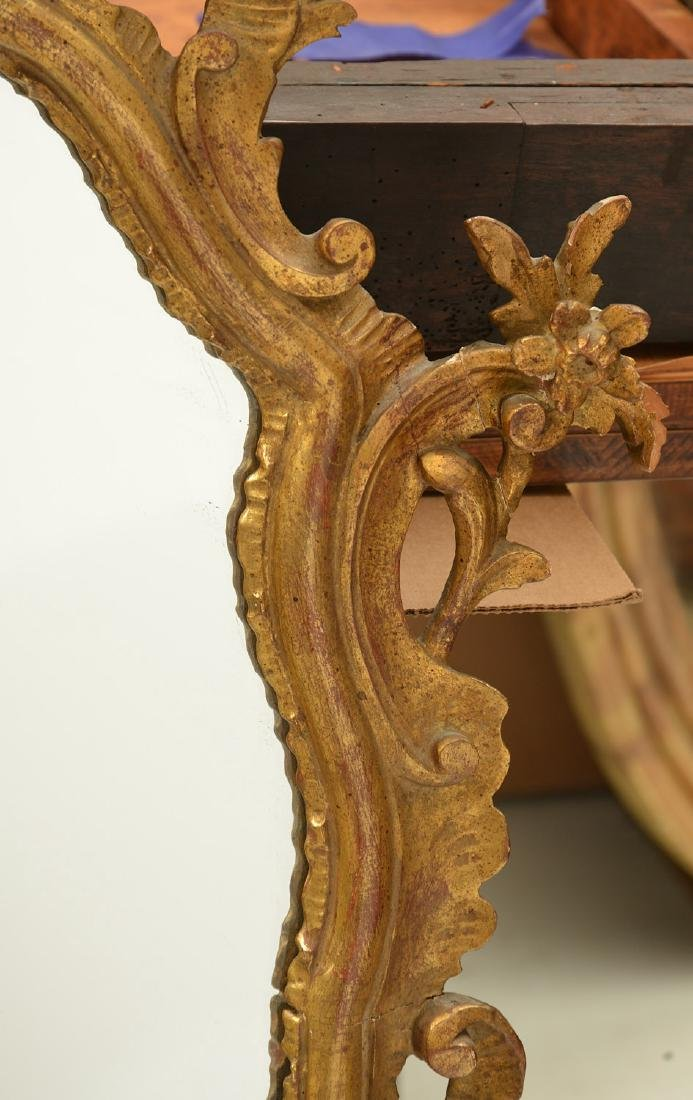 Italian Rococo style carved giltwood mirror - 2