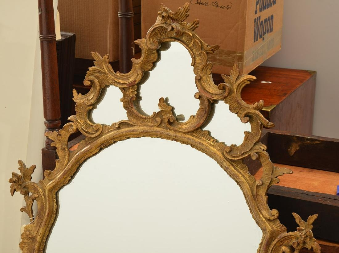 Italian Rococo style carved giltwood mirror - 4