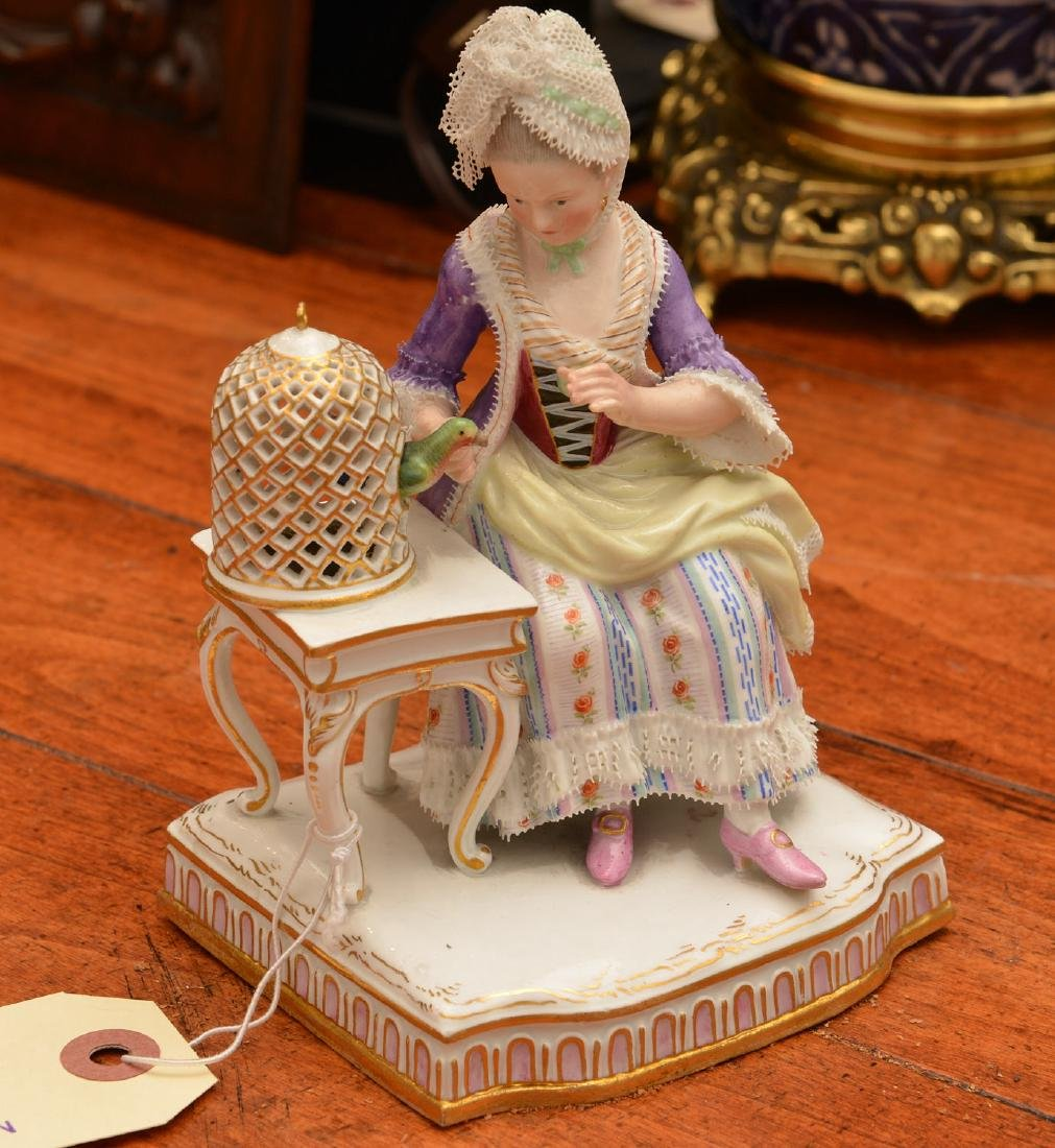 Meissen hand-painted porcelain figure
