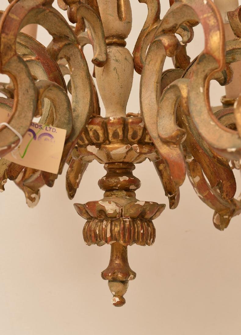 Italian Baroque style painted wood chandelier - 2