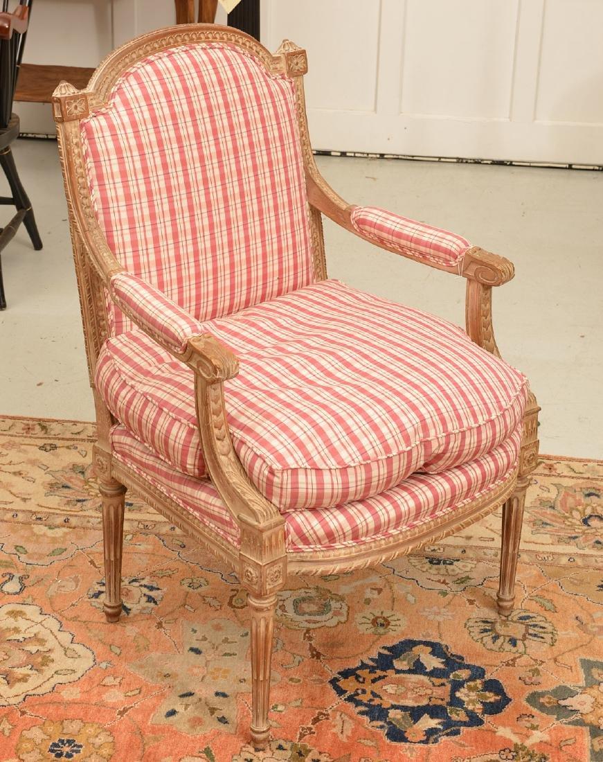 Louis XVI style painted fauteuil a la reine