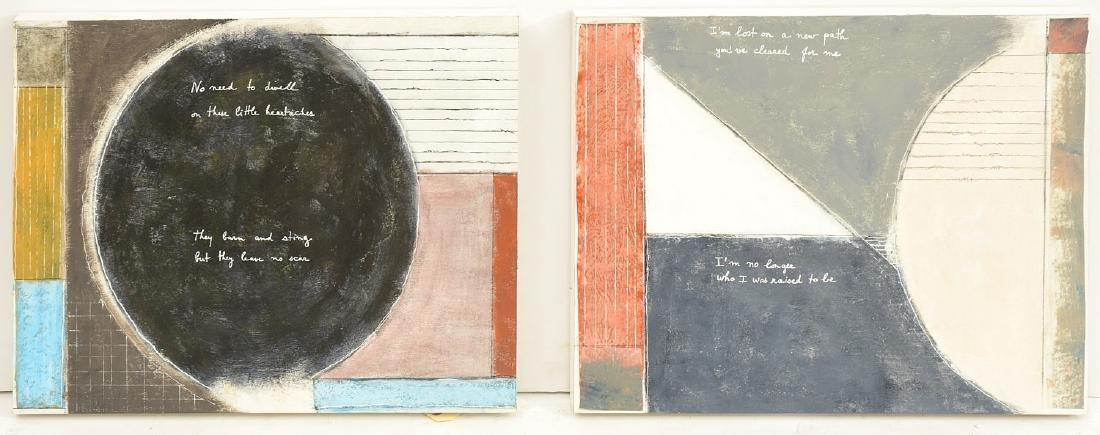 Marc Osborne, (2) paintings