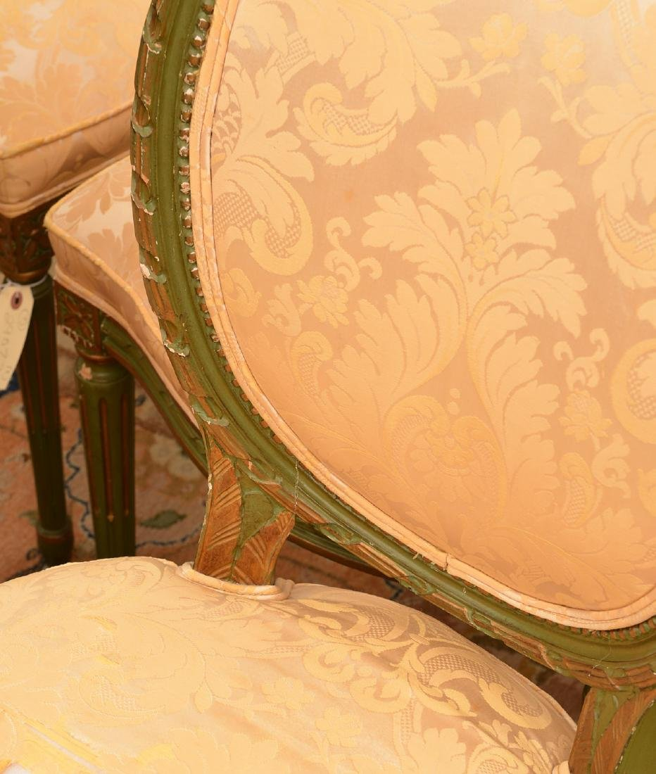 Set (8) Louis XVI style painted dining chairs - 2