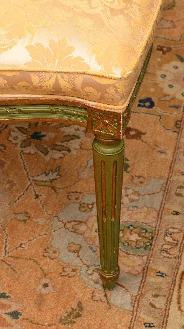 Set (8) Louis XVI style painted dining chairs - 3