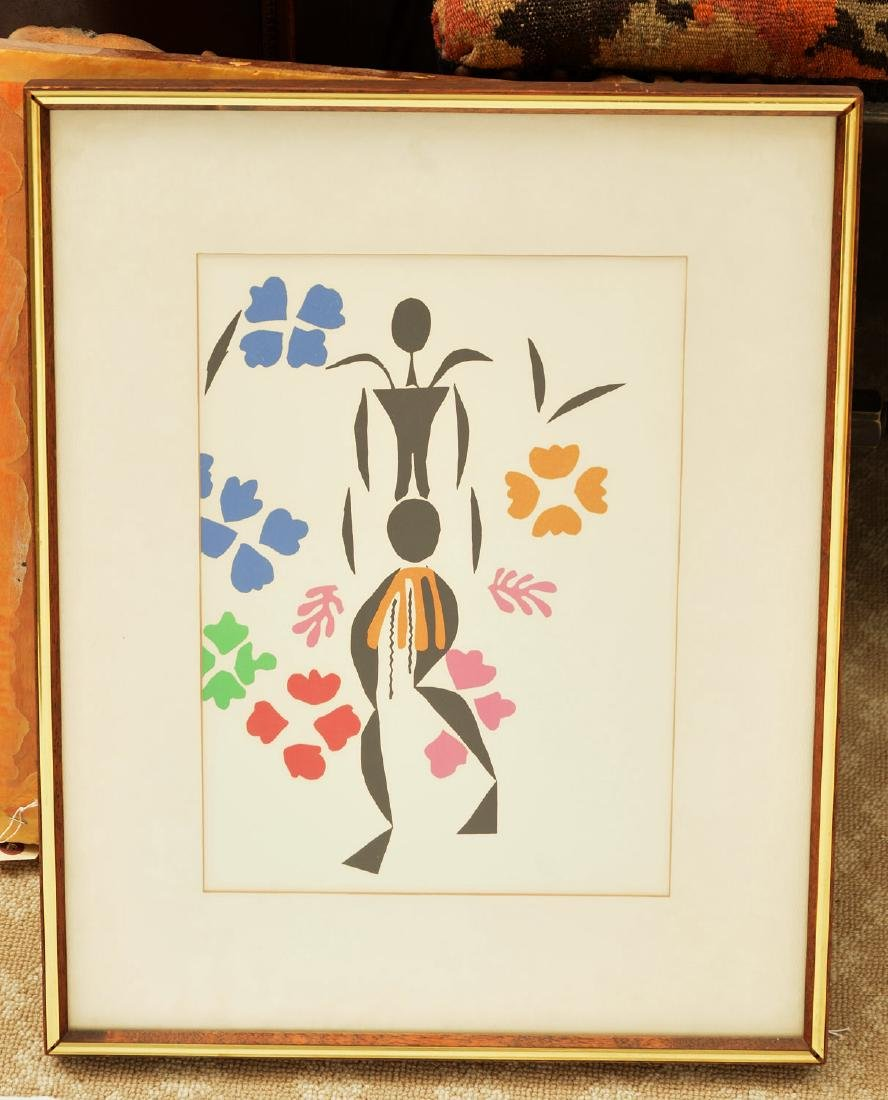 After Henri Matisse, color lithograph