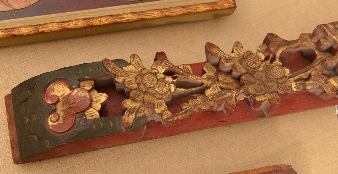 (3) Chinese carved wall hangings - 3