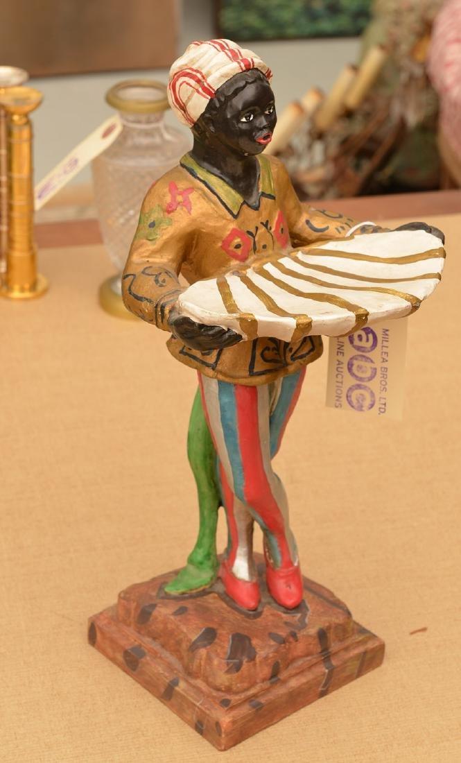 Blackamoor painted ceramic card holder