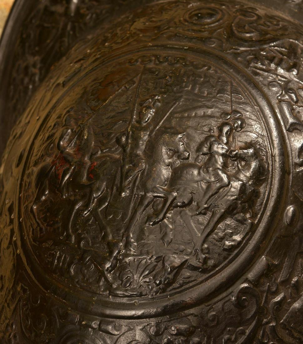 Cast iron conquistador style armorial plaque - 5