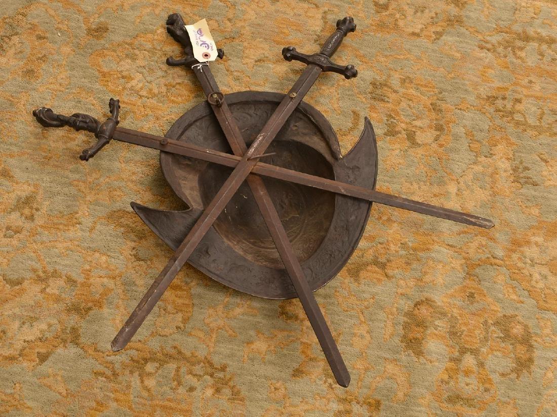 Cast iron conquistador style armorial plaque - 6