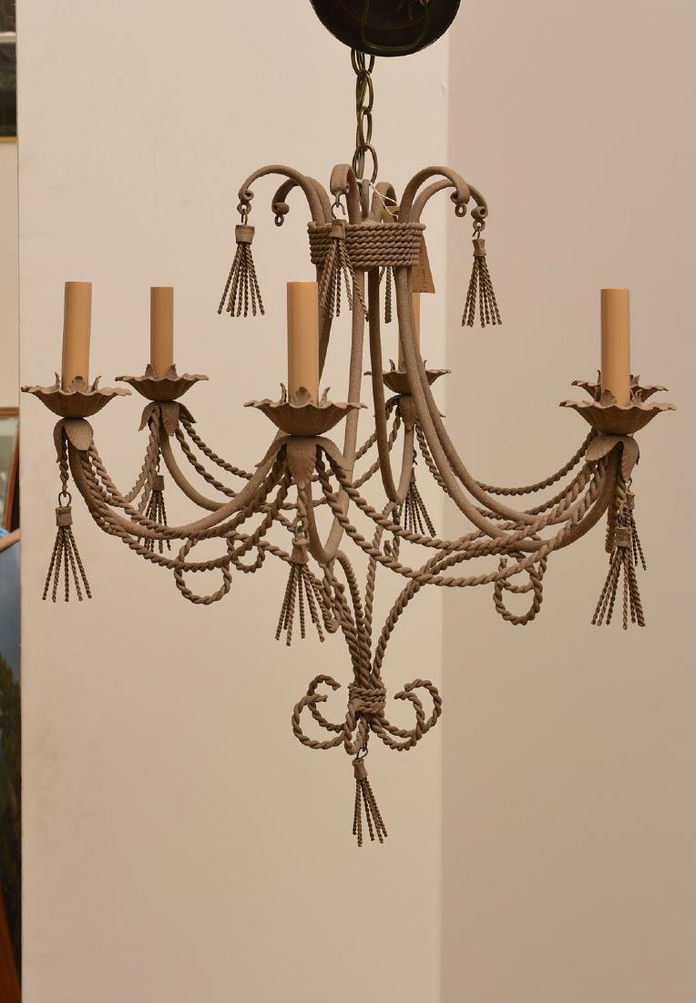 Italian style rope and tassel chandelier