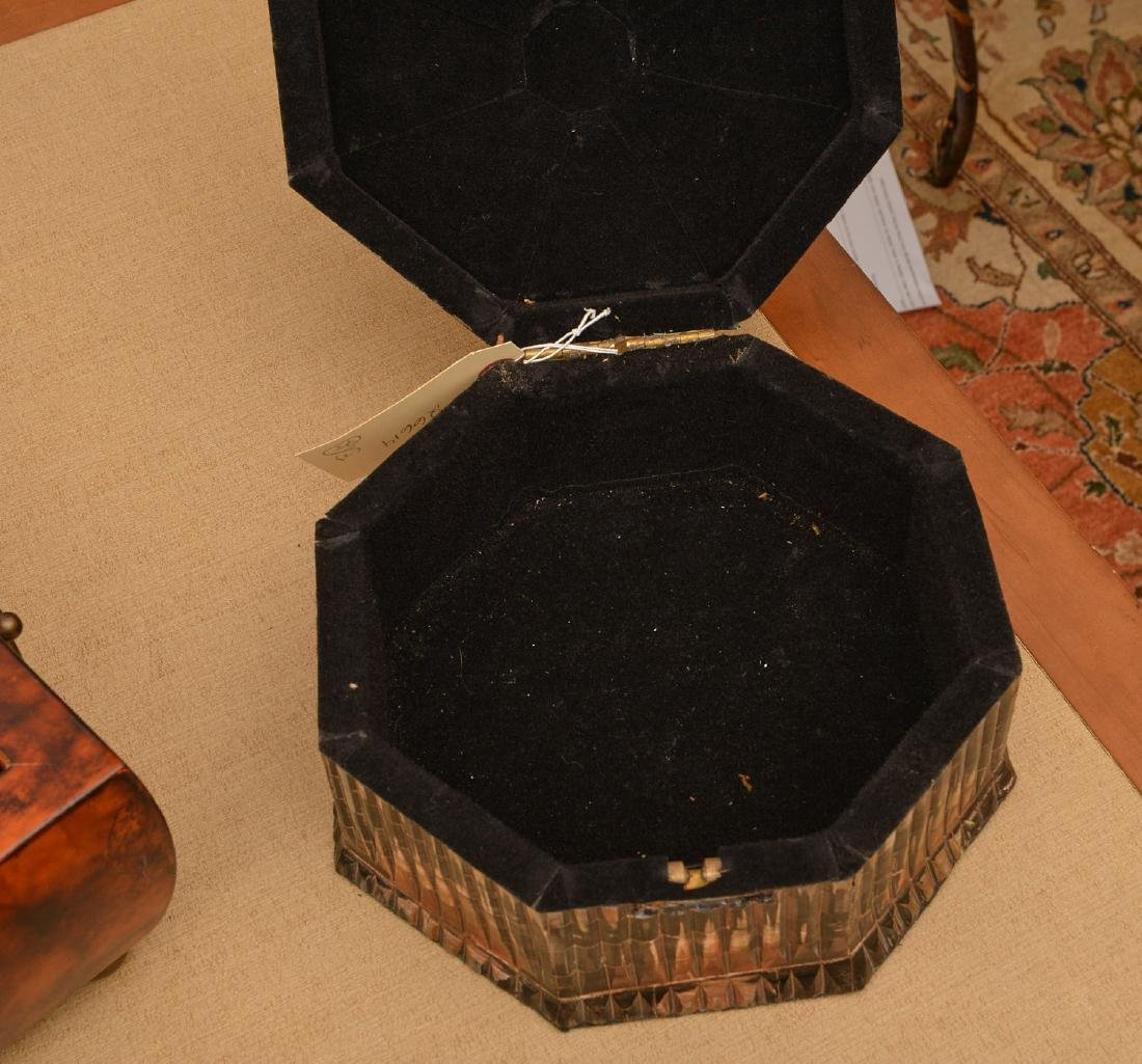 (3) decorator jewelry and dresser boxes - 3
