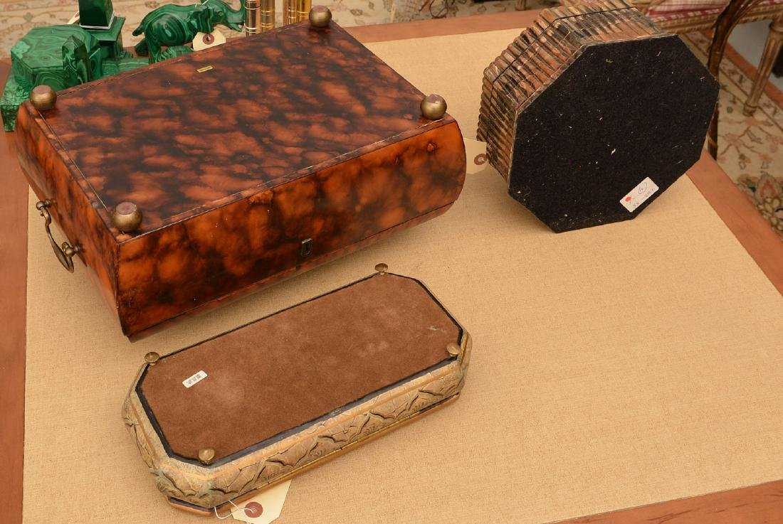 (3) decorator jewelry and dresser boxes - 7