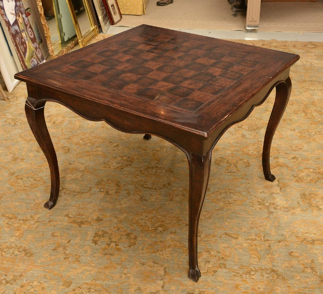 French style parquetry games table