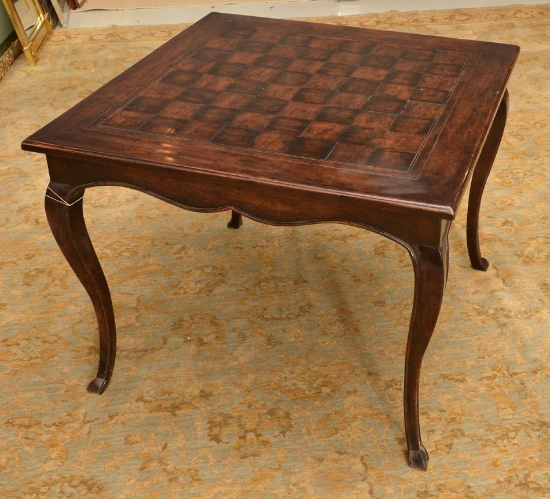 French style parquetry games table - 2