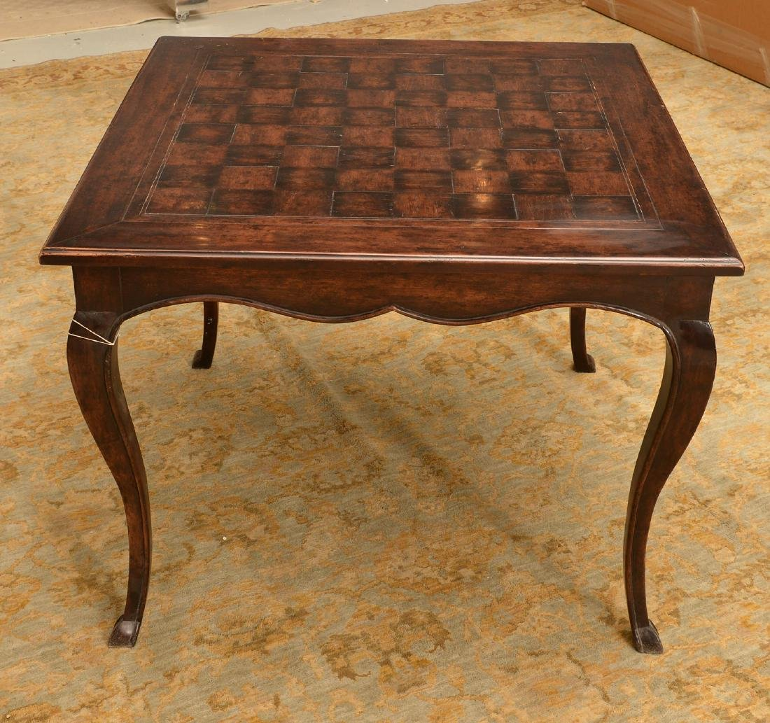 French style parquetry games table - 3