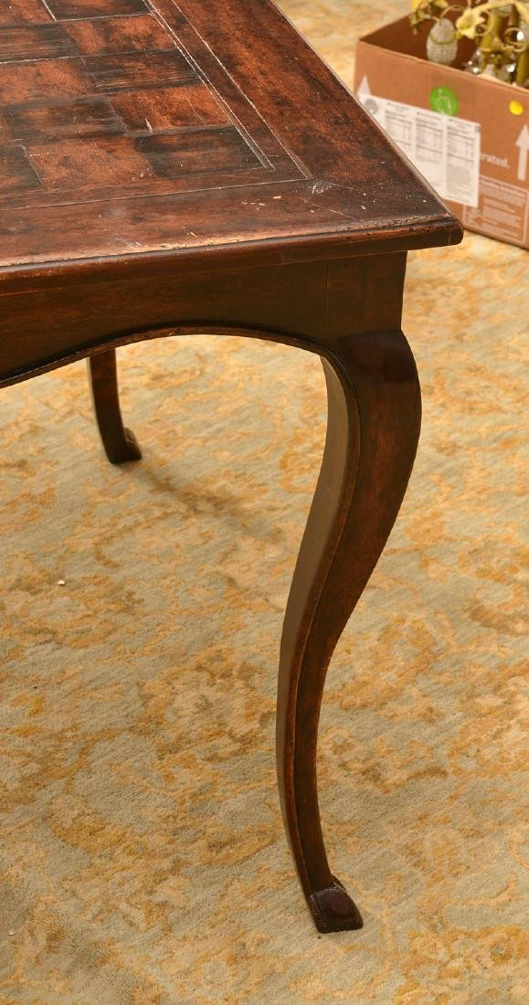 French style parquetry games table - 4