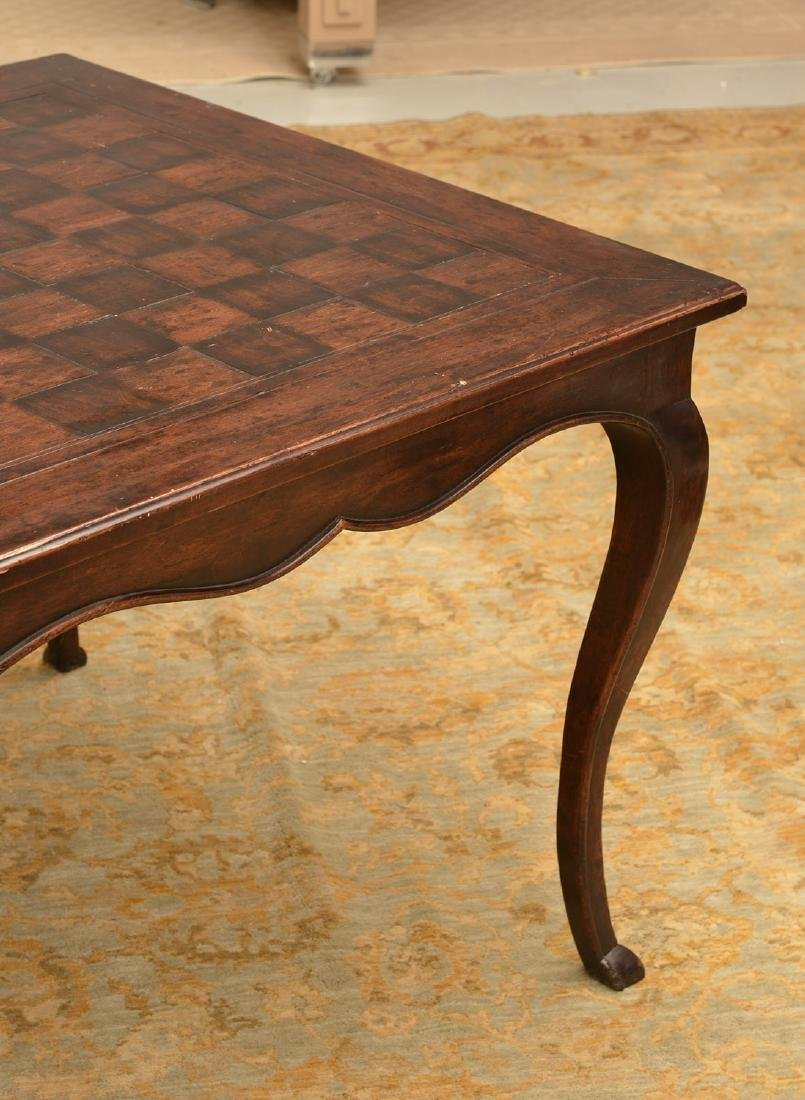 French style parquetry games table - 5