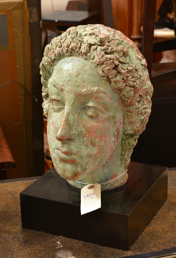 T. Shayne, large head sculpture