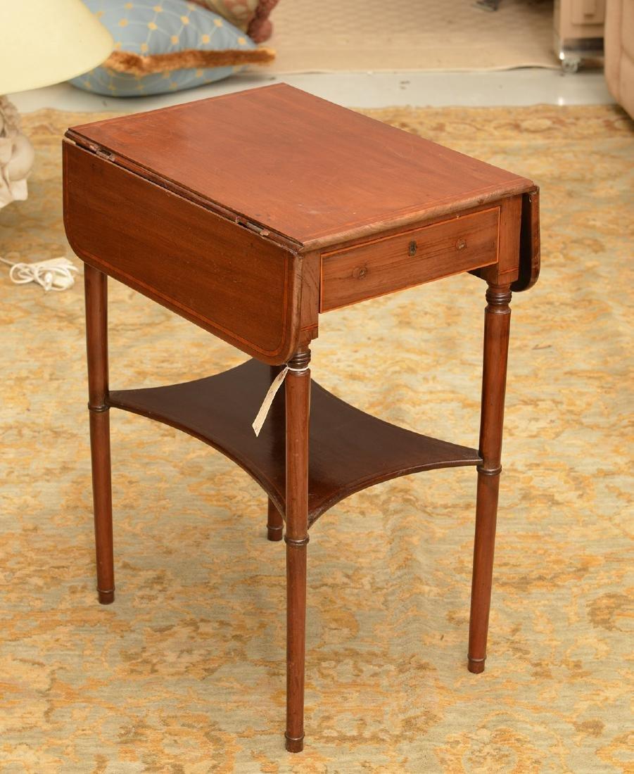 Antique Sheraton style inlaid pembroke table