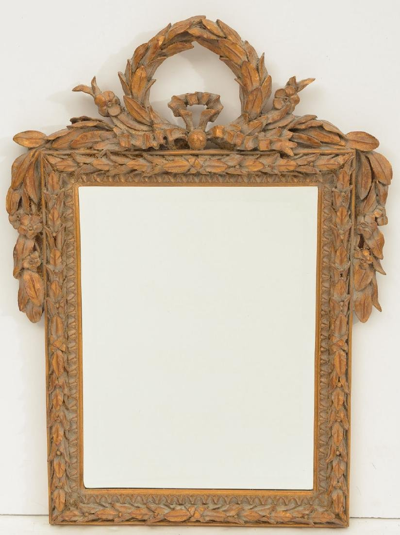 Louix XVI style gilt wood framed mirror