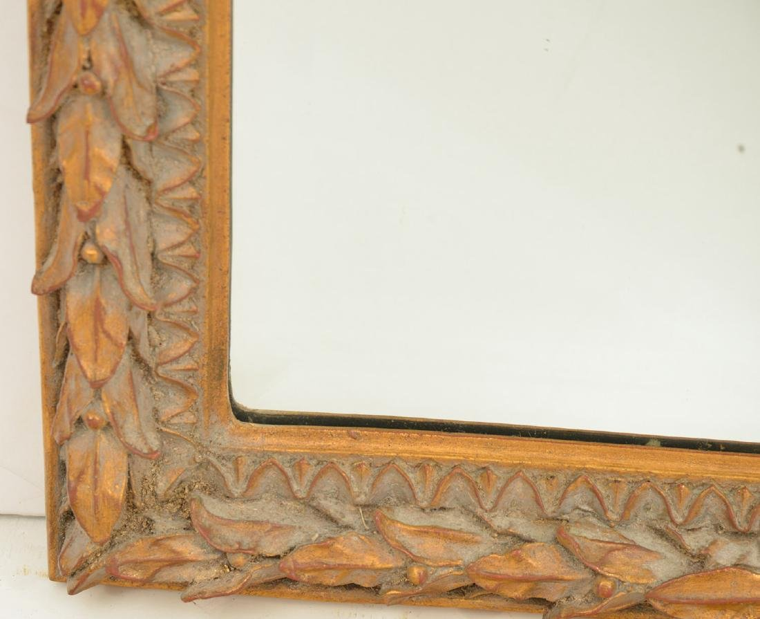 Louix XVI style gilt wood framed mirror - 4