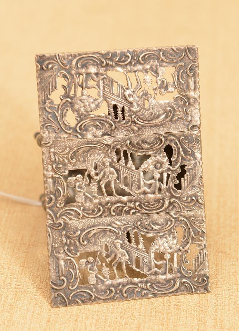 Dutch .800 silver miniature drop-leaf table - 3