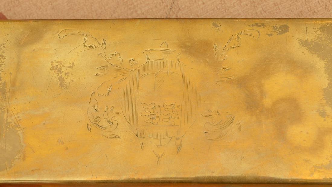 (2) Dutch engraved brass tobacco boxes - 6