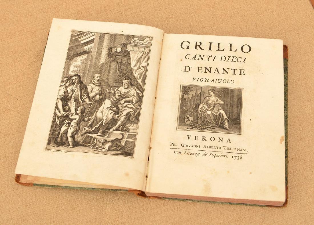 """Book: Grillo, """"Canti Dieci d'Entante Vignaiuolo"""""""