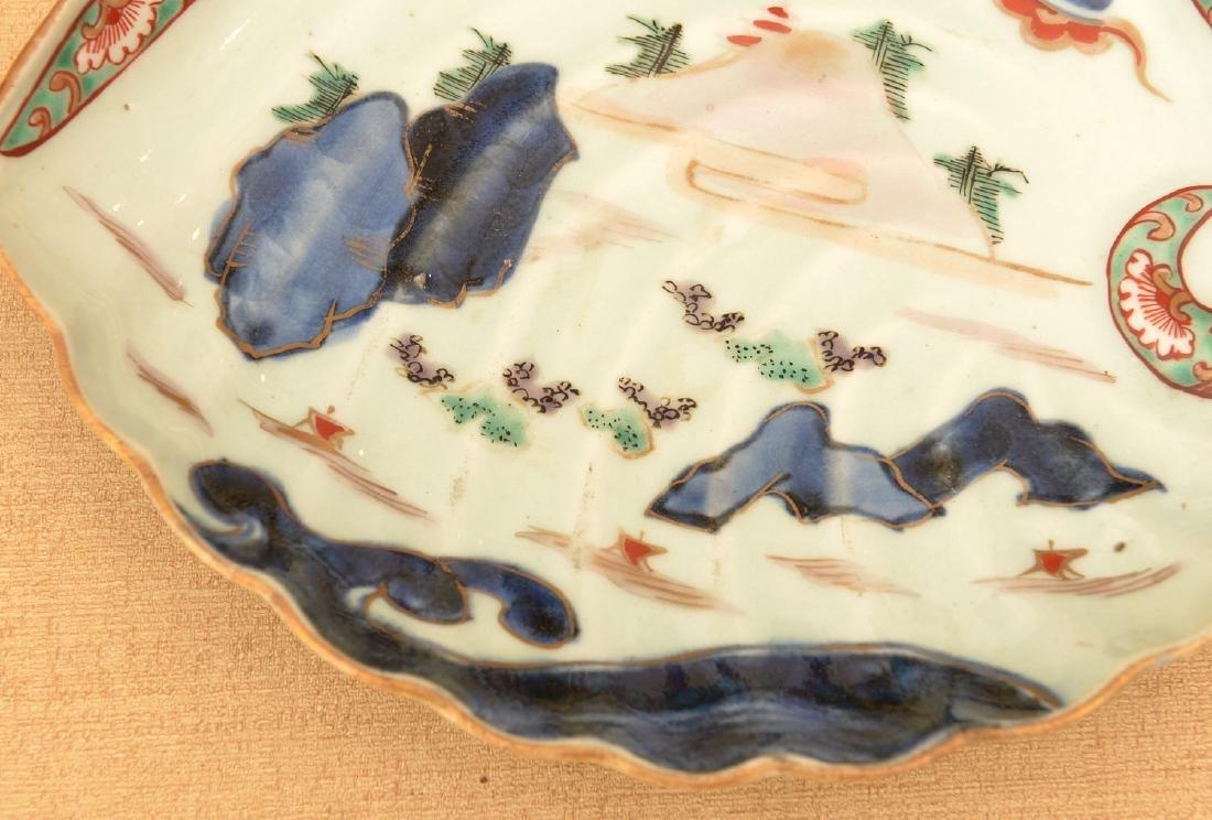 (2) Japanese porcelain Awabi form dishes - 3
