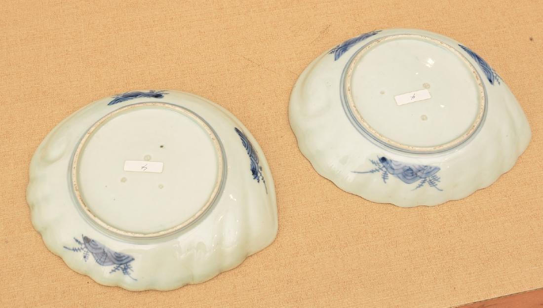 (2) Japanese porcelain Awabi form dishes - 4