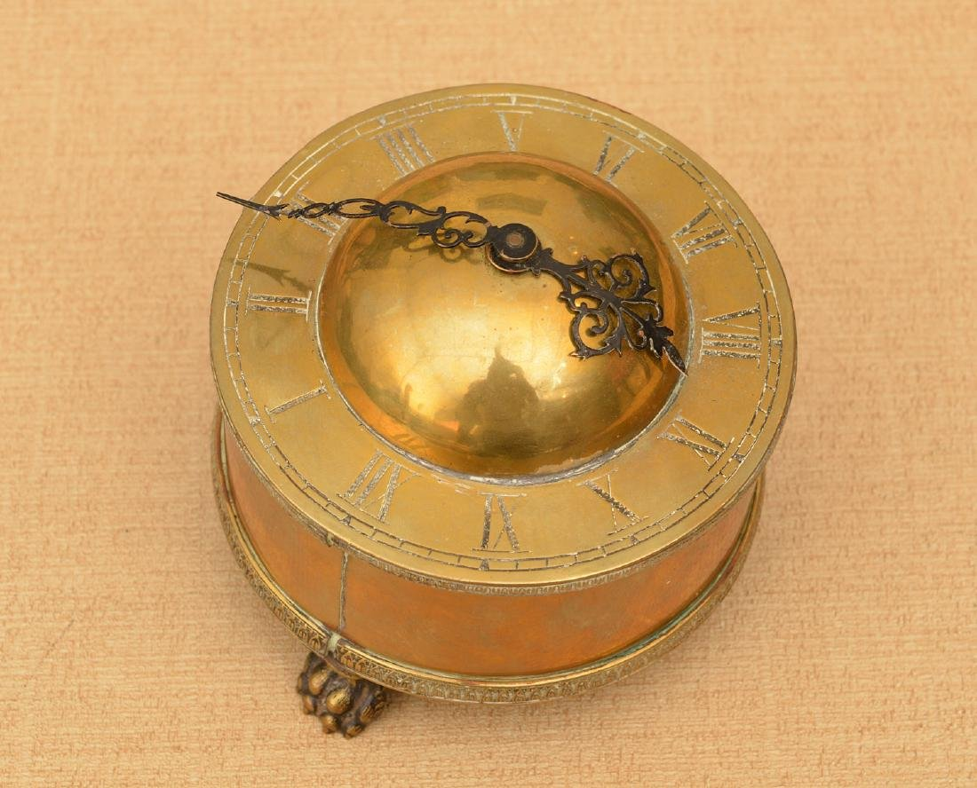 Early English style brass table clock