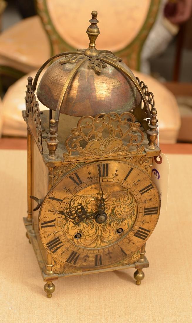 Charles II style brass lantern clock