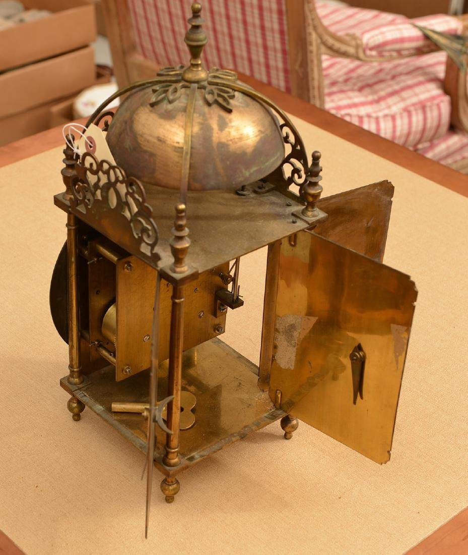Charles II style brass lantern clock - 2