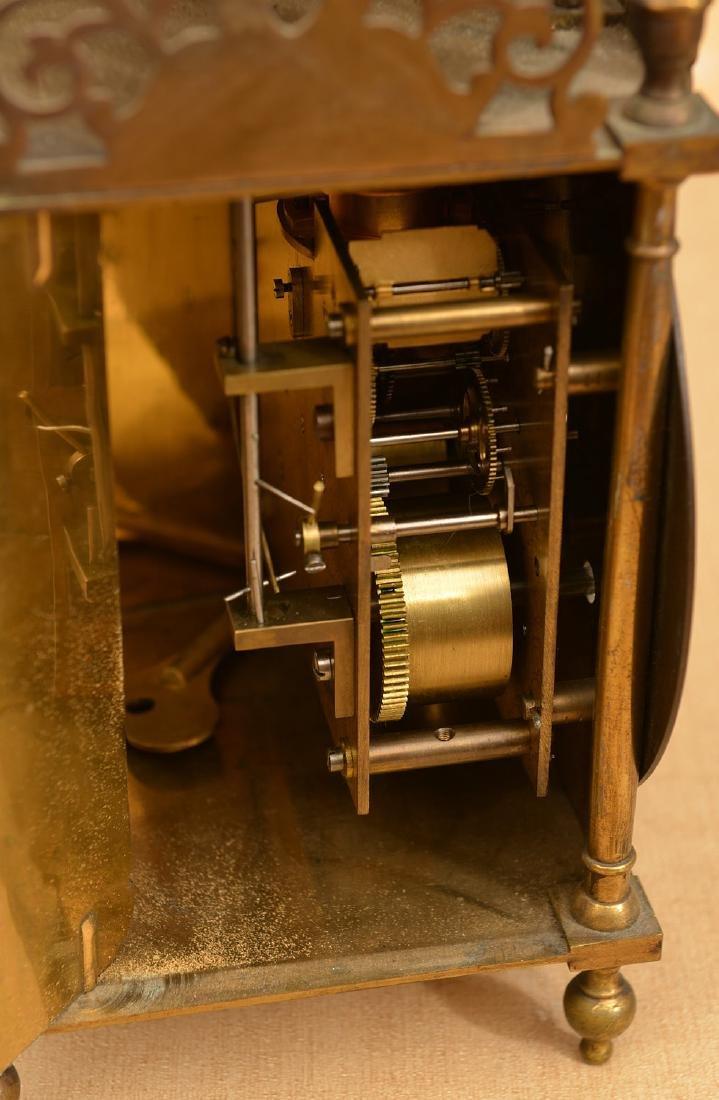 Charles II style brass lantern clock - 4