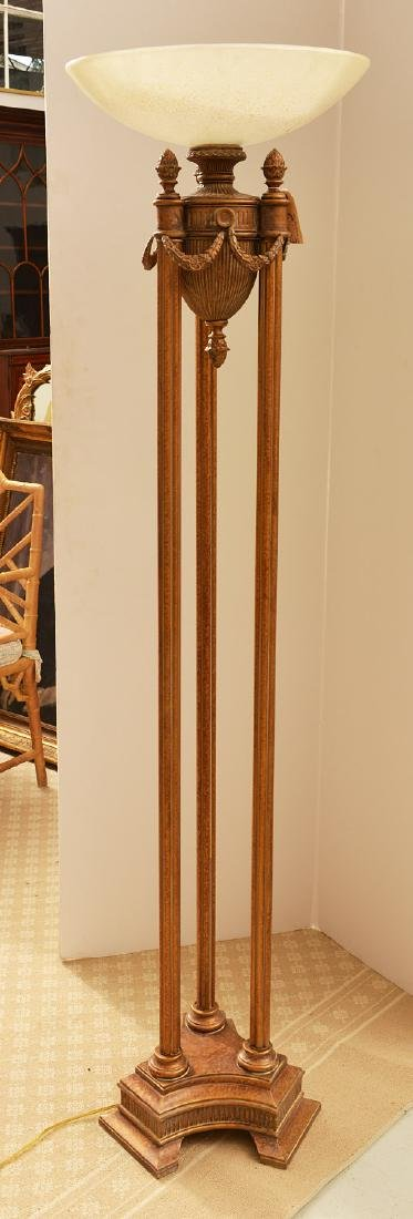 Neo-Classical style torchiere floor lamp