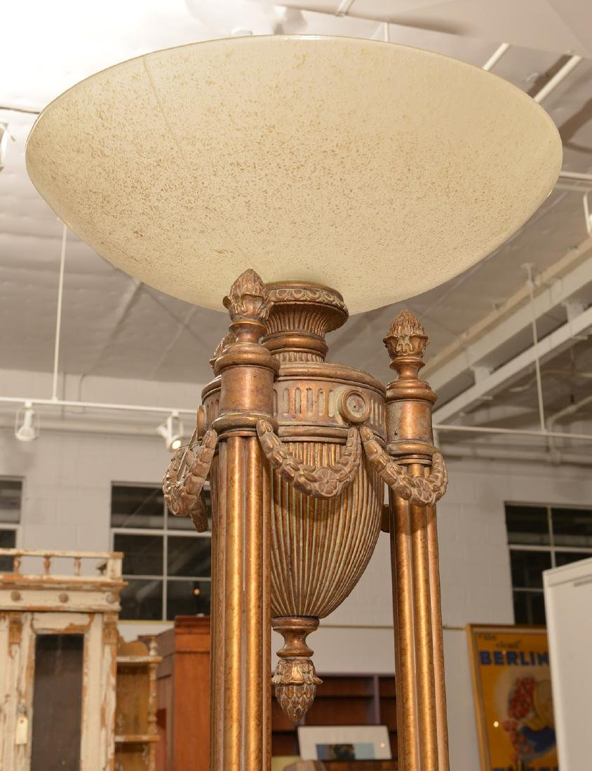 Neo-Classical style torchiere floor lamp - 3