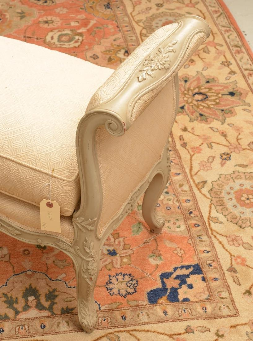 Louis XV style carved and painted window bench - 2
