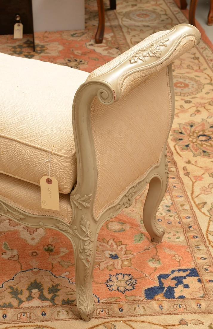 Louis XV style carved and painted window bench - 3