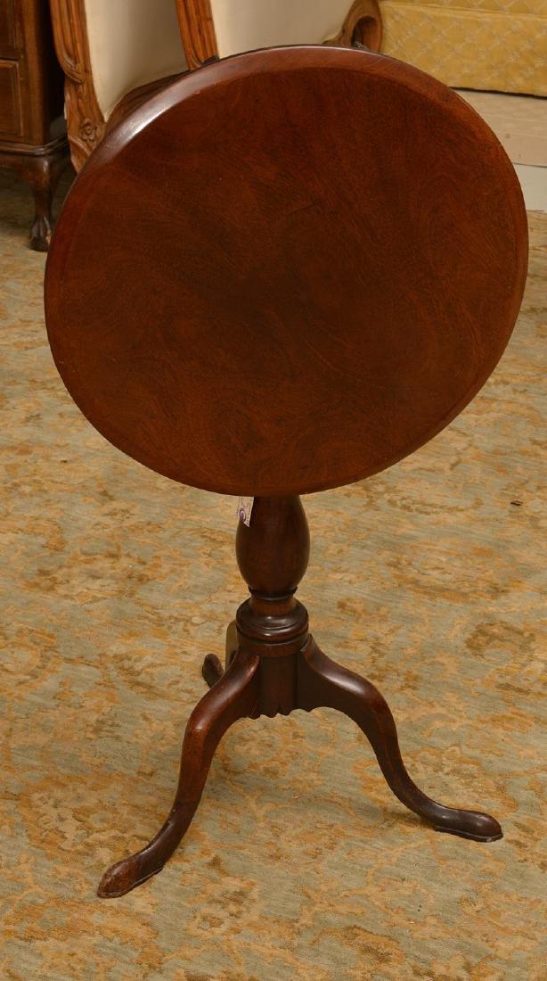 Antique English mahogany tilt top candlestand