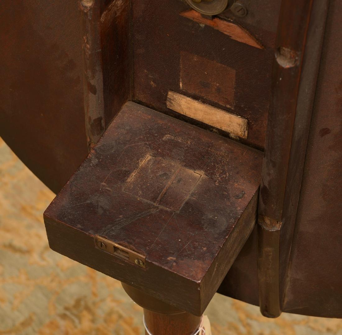 Antique English mahogany tilt top candlestand - 3