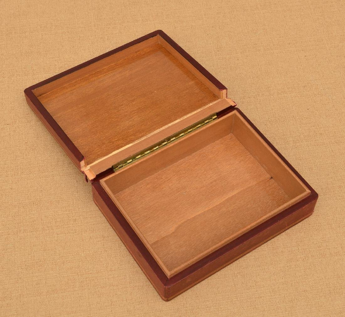 Italian Pietra Dura and leather jewelry box - 4