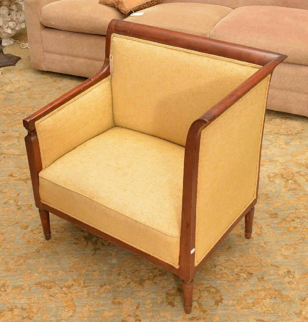 Biedermeier style mahogany bergere - 2