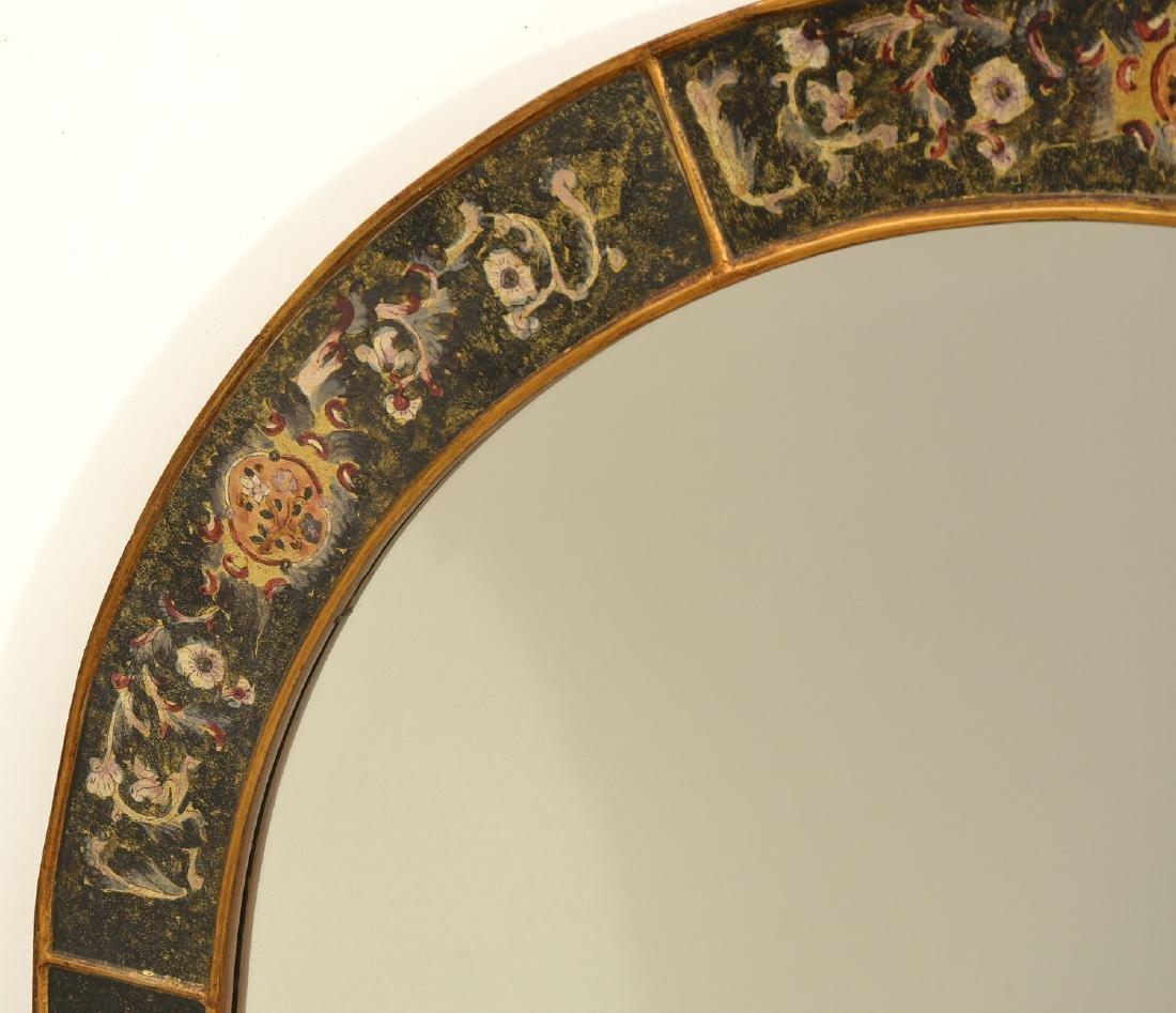 Designer eglomise framed arched wall mirror - 2