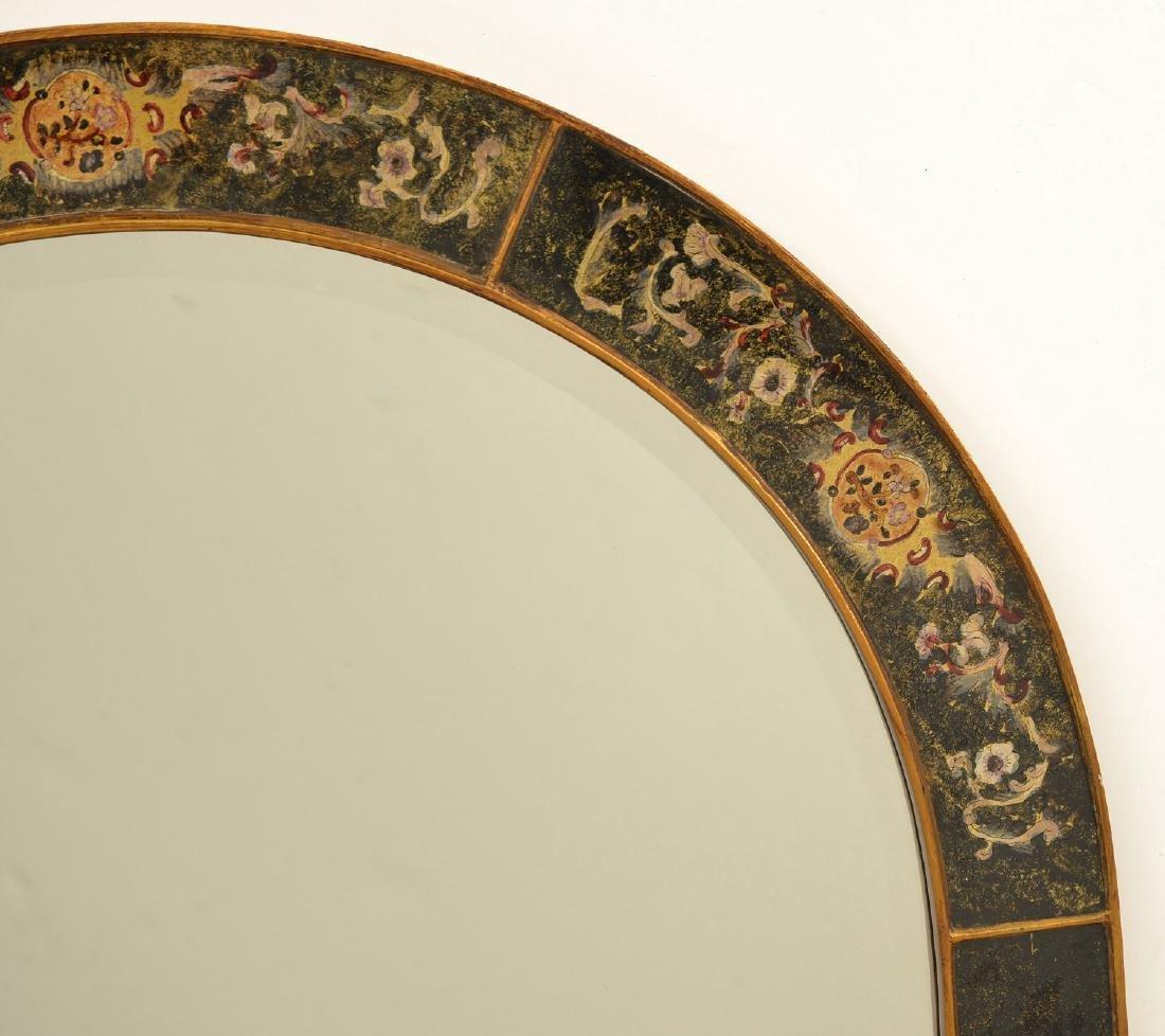 Designer eglomise framed arched wall mirror - 3