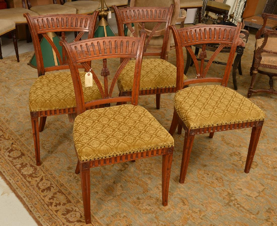 Set (4) Neo-Classical style side chairs
