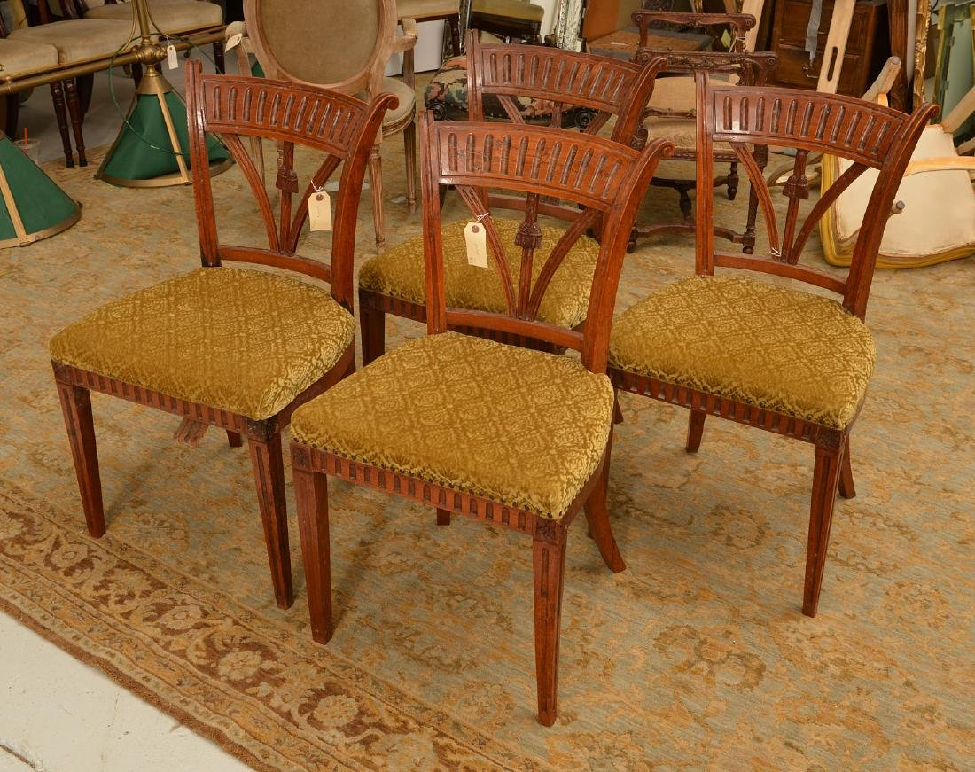 Set (4) Neo-Classical style side chairs - 3