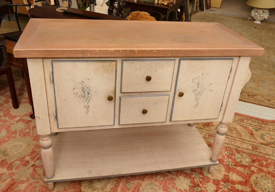 Country French style paint decorated buffet