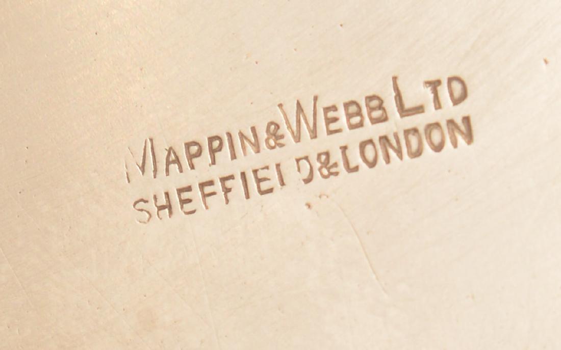 Mappin & Webb pierced sterling foot dish - 5