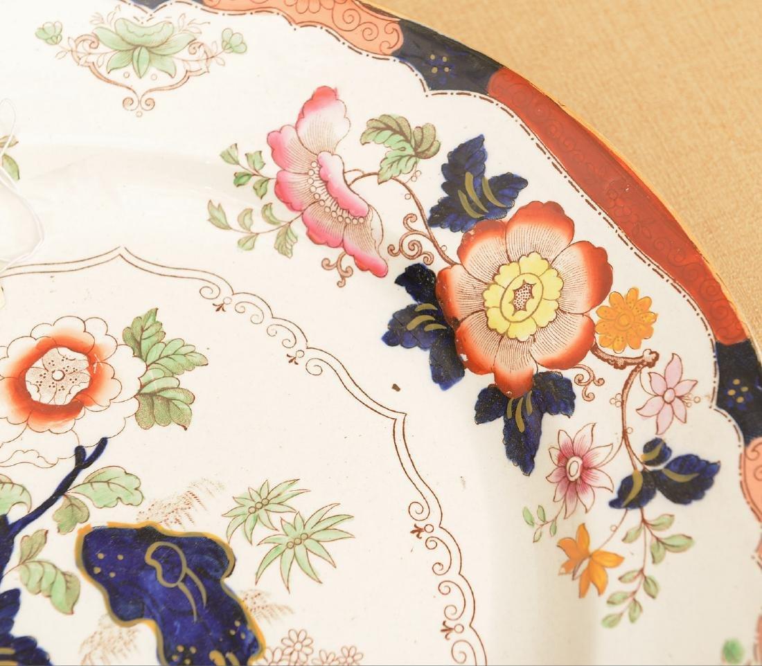 Ashworth Bros. Imari decorated ironestone platter - 3