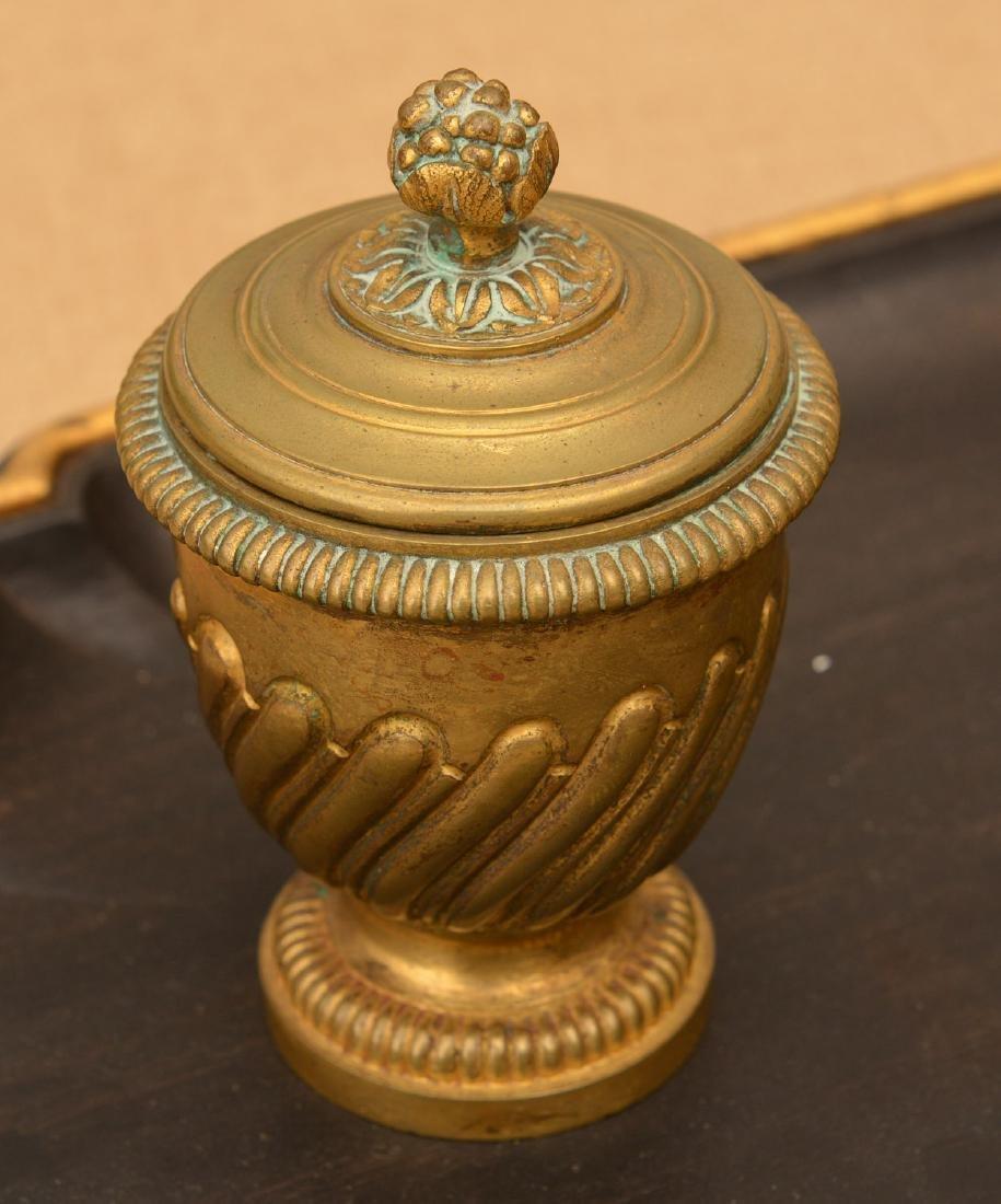 Louis XVI style bronze and ebony inkwell - 2